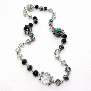 🆕Vintage Mixed Crystal Necklace w/Magnetic Clasp